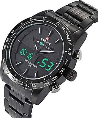 NAVIFORCE Relógio Masculino Naviforce 9024 Aço Inox - Preto