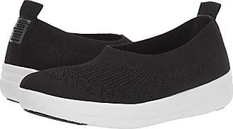 FitFlop Uberknit Slip-On Ballerina (All Black) Womens Slip on Shoes