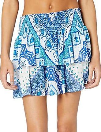 Ramy Brook Womens Printed Sibyl Mini Skirt, Navy Combo, Large