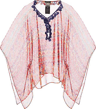 Etro Patterned Poncho Womens Red