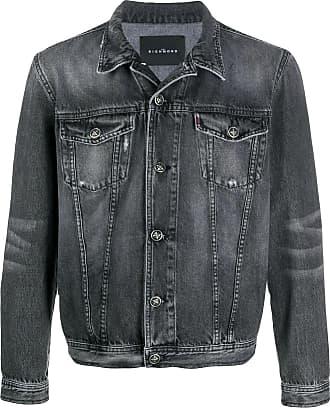 John Richmond Jaqueta jeans com efeito destroyed - Preto