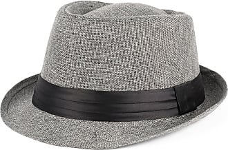 Hat To Socks Trilby Hat with Satin Black Band (grey, S/M (56/57 cm))