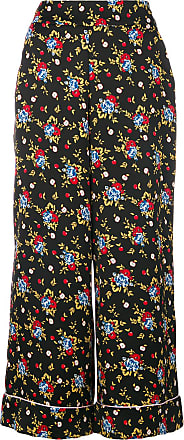 Vivetta floral print flared trousers - Black