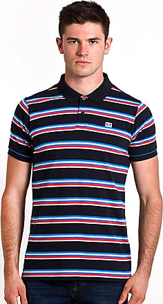 Weekend Offender Mens Dollis Stripe Polo Navy (Small)
