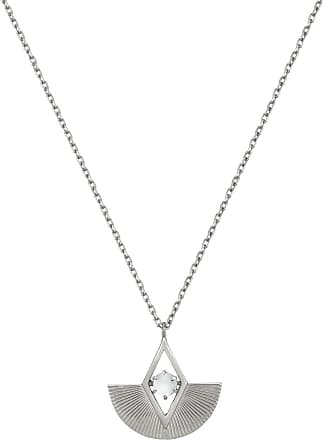 Zoe & Morgan Lou Lou Halskette Mondstein Silber - one size | sterling silver | silver | White - Silver/Silver