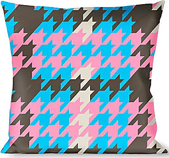 Buckle Down Pillow Decorative Throw Mini Houndstooth Gray Baby Blue Pink