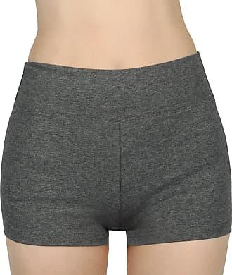 iLoveSIA Womens Knickers Yoga Gym Pants Stretch Boy Shorts Grey XL