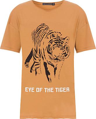 FYI T-shirt Silk Tiger - Marrom