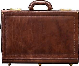 Maxwell Scott Maxwell Scott - Luxury Brown Leather Pilots Case (Varese)
