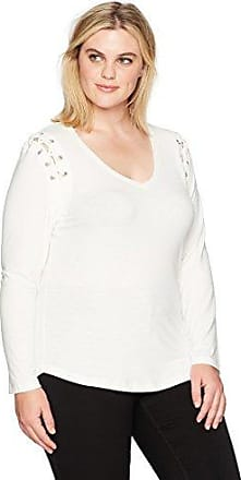 Rebel Wilson X Angels Womens Plus Size Top W//Back Lace Up Detail