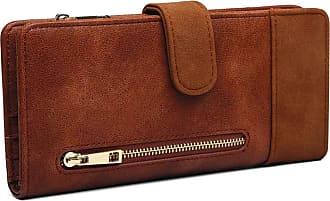 Craze London Craze london Women RFID Blocking Wallet Large Capacity PU Leather Wallet Purse with Zipper Pocket