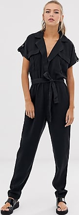 Noisy May tencel utility jumpsuit-Black