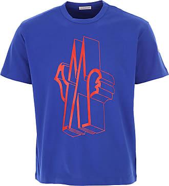 Moncler T-Shirt for Men On Sale, Bluette, Cotton, 2019, L M XL