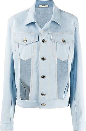 Zilver cut-out front denim jacket - Blue