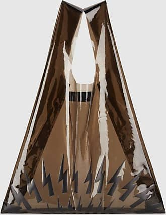 Neil Barrett Fair-isle Thunderbolt Shiny PVC Market Bag