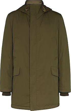 Yves Salomon Bachette hooded down coat - Green