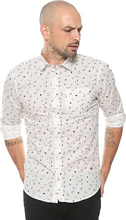 Jack & Jones Camisa Jack & Jones Reta Estampada Branca