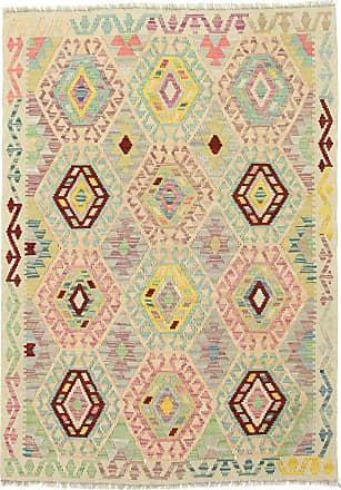 Nain Trading 175x127 Kilim Afghan Heritage Rug Modern/Design Beige/Pink (Handwoven, Wool, Afghanistan)