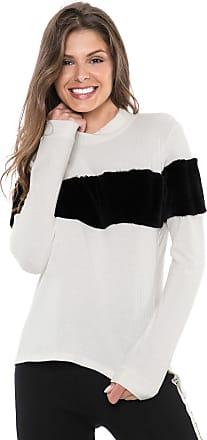 Nolita Lace Blusa Nolita Canelada Pelos Off-White/Preta