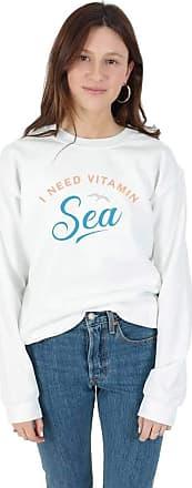 Sanfran Clothing Sanfran - Vitamin Sea Beach Summer Holiday Streetwear Jumper Sweater - Medium/White