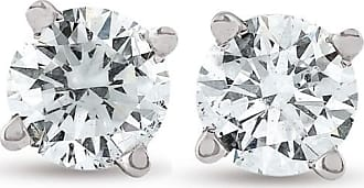 Pompeii3 1/2ct Real Lab Grown Diamond Stud Earrings 14K White Gold