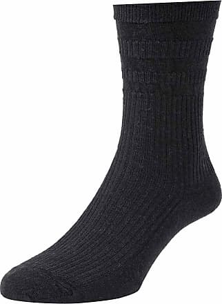 Hj Hall 3 Pair Pk Hj Hall Hj90 Wool Rich Softop Loose Top Non Elastic Socks 4-7 Black