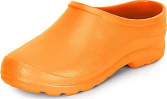 Ladeheid Womens and Mens EVA Clogs LADW001 (Orange, 11.5 UK)