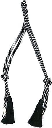 Valextra fringed tassel shoulder strap - Black