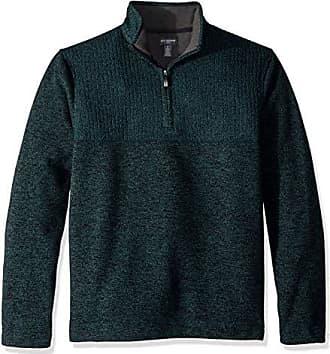 Van Heusen Mens Flex 1/4 Zip Texture Block Sweater Fleece
