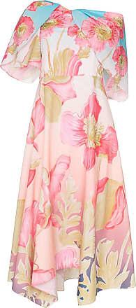 Peter Pilotto Vestido floral ombro a ombro - Sky Poppy