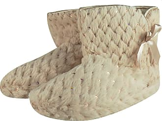 MySocks Ladies Slippers Beige Sequins