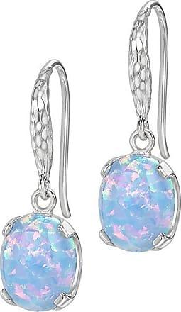 Dower & Hall Oval Opal Claw-Set Twinkle Drop Earrings