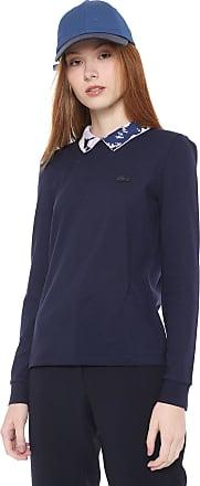 95a80578c Lacoste Camisa Polo Lacoste Reta Estampada Azul-marinho