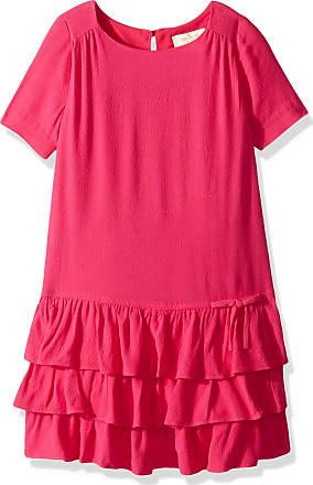 Kate Spade New York Kate Spade New York Girls Tiered Dress, Cabaret Pink, 5
