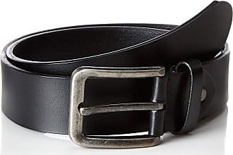 Only & Sons Mens Onscharlton Leather Belt Noos, Black, 46 (Size: 105)