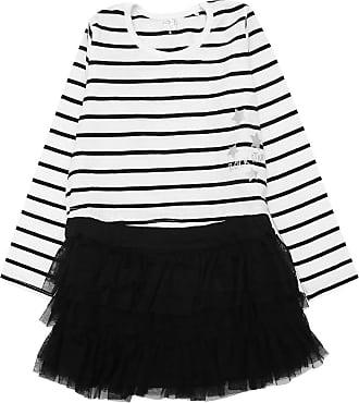 Tip Top Vestido Tip Top Infantil Listras Branco/Preto