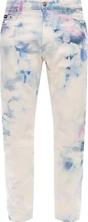 Palm Angels Tie-dye Jeans Mens Cream