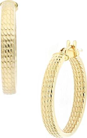 b3d16c24d Bony Levy 14K Yellow Gold 20mm Textured Hoop Earrings