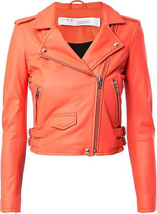 Iro cropped biker jacket - Orange