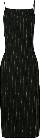 Dion Lee pinstripe-print slip dress - Black