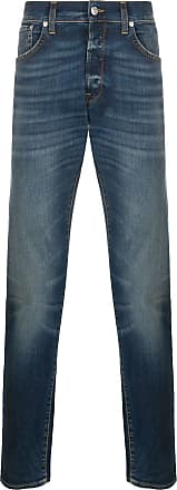 Department 5 Calça jeans reta com cintura alta - Azul