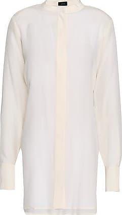 Joseph Joseph Woman Tie-back Silk Crepe De Chine Tunic Ecru Size 38