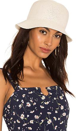 Brixton Essex Straw Bucket Hat in Cream