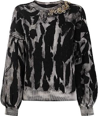 Pinko knitted embellished jumper - Black