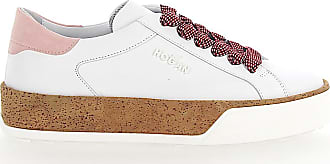 Hogan Sneaker R320 cork smooth leather rose white