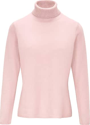 include Roll-neck jumper in pure new wool and cashmere include pale pink