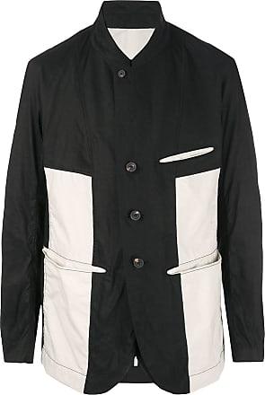 Ziggy Chen creased blazer - Black