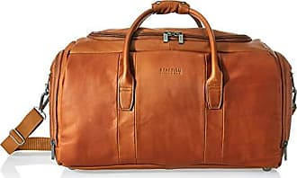 Kenneth Cole Reaction Kenneth Cole Reaction Duff Guy Colombian Leather 20 Single Compartment Top Load Travel Duffel Bag, Cognac