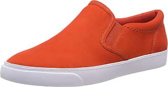 Clarks Womens Glove Puppet Loafers, Orange (Orange Nubuck), 4.5 UK