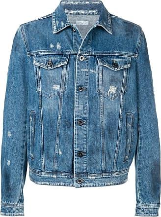 Diesel denim jacket with stone-washed finish - Blue